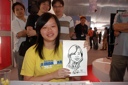 caricature live sketching for LG Infinia Roadshow - day 1 - 3