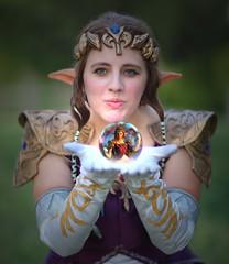 Princess Zelda's Mystical Power Sphere (gbrummett) Tags: beautiful pretty cosplay spirit fantasy mystical magical vignette thelegendofzelda princesszelda canoneos5dmarkiicamera canonef85mmf12lusmlens princesszeldaゼルダ姫zerudahimeisfromthelegendofzeldaseries