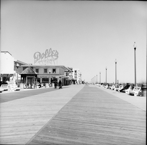Rehoboth Beach Boardwalk as Captured by the Yashica-A