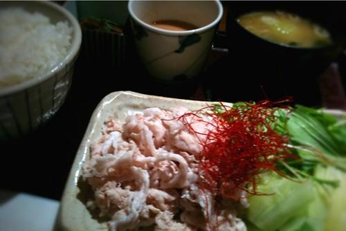 旬菜 豚しゃぶ定食。