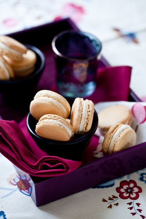 Grapefruit Macarons With Anise Buttercream