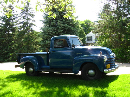 1952 Chevy truck - side view