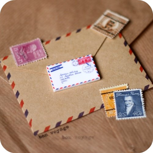 Airmail Envelope Brooch