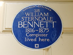 Photo of William Sterndale Bennett blue plaque