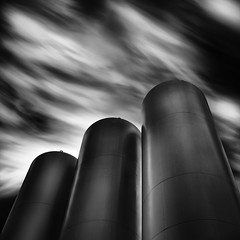 / / / | \ (maxxsmart) Tags: california longexposure sky blackandwhite bw clouds canon reflections spring may highcontrast police structure silo lee cylinder bayarea 69 agriculture 2010 nowater clearingstorm publicproperty singleimage ef2470f28lusm lotsofquestions bwnd110 singlelayer thisisnotahdr bw10stopnd 5dmarkii 15stops
