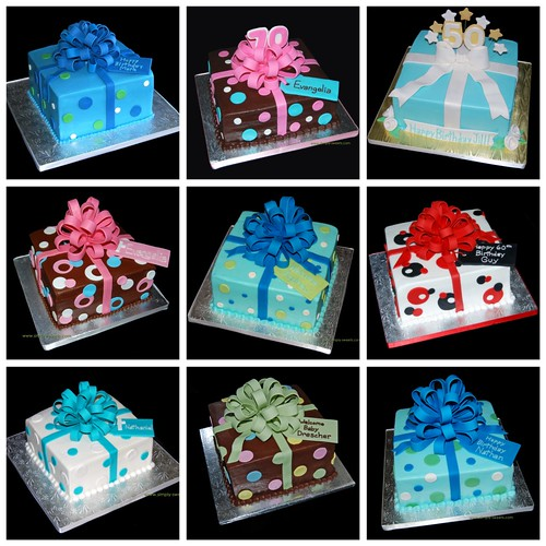 Simply Sweets package cake collage