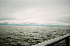 film. ocean and sky (alesha joy.) Tags: ocean sky film water boat grain victoria vancouverisland