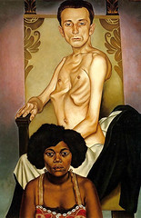 Christian Schad, Agosta the Winged Man and Rascha, the Black Dove, 1929 (kraftgenie) Tags: male germany weimar schad