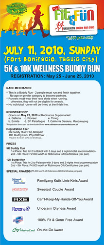 3rd Fit and Fun - Wellness Buddy Run - July 11, 2010