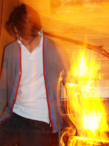 Adrien is burning
