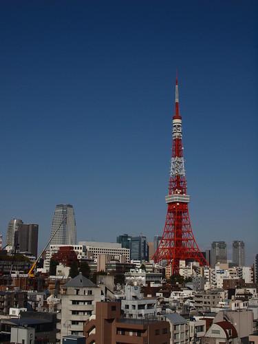 Tokyo Tower in OLYMPUS BLUE SKY