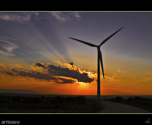 Windmill´s sunset
