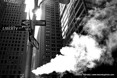Just another day, New York (2009) (David Tesinsky - Photographer) Tags: usa newyork manhattan smoke streetphoto wallstreet