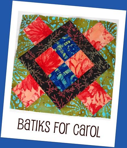 2010 Round Robin Quilt Bee - Carol