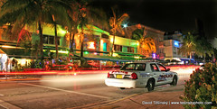 Ocean drive, Miami beach, Florida (2009) (David Tesinsky - Photographer) Tags: usa beach car miami 911 police oceandrive