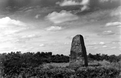 Standing Stone, Ilkley Moor (Mabvith) Tags: sky clouds ancient heather hp5 twelveapostles moor prehistoric ilford burley 12apostles ilkley stonecircle redfilter ilkleymoor standingstone practika bcx rombalds