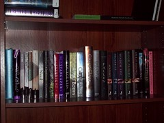 Shelf Two. (Castiel Winchester) Tags: blue lauren de la jones becca wings clare little kate vampire secret touch gray books melissa maggie falls cruz fallen need claudia cassandra series laurie carrie mead pike academy instruments faria wolves richelle mercy deadly shiver bloods fitzpatrick mortal glimmerglass stolarz hushhush stiefvater evernight aprilynne faeriewalker