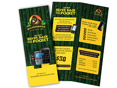 Bi-Fold Color Brochure (ben.bibikov) Tags: color green yellow mobile logo graphicdesign cellular jungle wireless gorrilla brochure cellphones silverback printdesign bifold bibikova