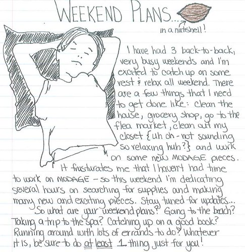 weekend plans 6.4.10