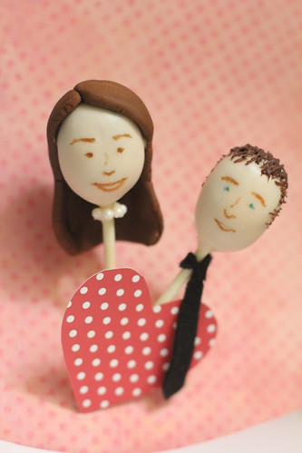 Bride (with Pearls) and Groom Cake Pops