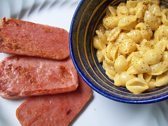Spam & Mac (mooshee85) Tags: food shells cheese dinner lunch mac spam delicious pork salty meal canned comfort product cheesy macaroni velveeta