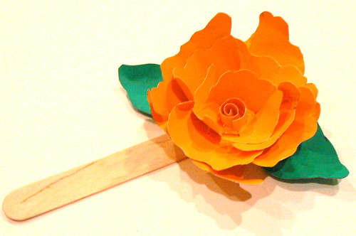 recycling work: paper flower bookmark tutorial