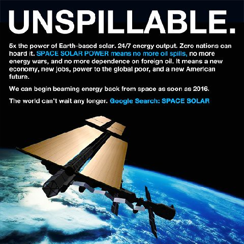 Space Based Solar Power - Unspillable