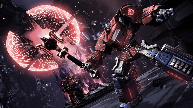 Screenshot Transformers War for Cybertron Optimus axe