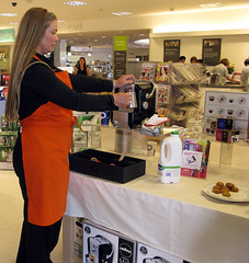 Showing Me How To Make It Frothy (ohange2008) Tags: food coffee shopping espresso essex capucino lavazza waitrose southendonsea