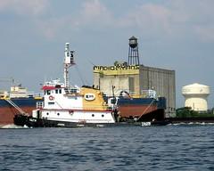 FALCON K-SEA Tugboat, Delaware River, Camden, New Jersey (jag9889) Tags: boat newjersey kayak ship camden nj vessel kayaking falcon tugboat tug paddling southjersey 2010 delawareriver workboat ksea camdencounty y2010 jag9889