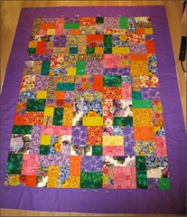 Flower Power, ready to quilt