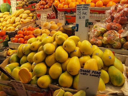 竹節市場的水果攤
