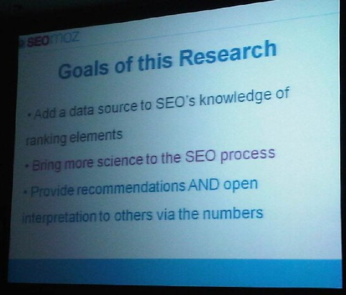 research goals slide