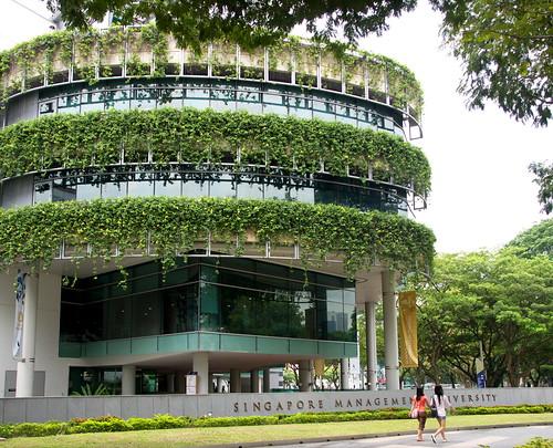 很有綠意的大樓
