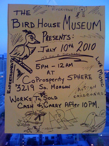 THE BIRDHOUSE MUSEUM: ANNUAL CARDBOARD ART SHOW by billy craven.