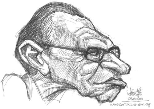 digital sketch of Larry King - 3