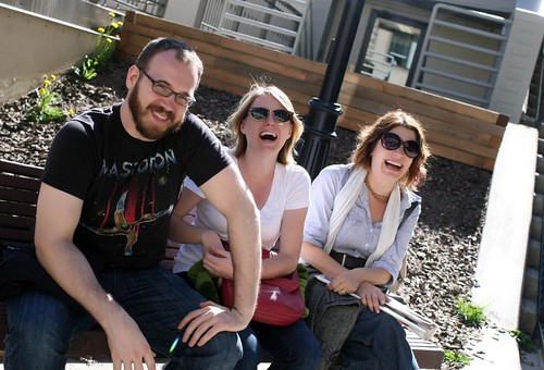 Jody, Tori, Rachel (apparently I need to work on my posture. And find my chin.)