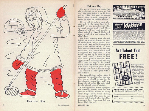 The WorkBasket December 1954 - Eskimo Boy