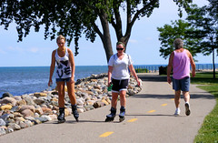 On the Bike/Hike and RollerBlade Path (FrogBum) Tags: beach walking path michigan trail rollerblade rollerblades inlineskates harrisontownship metroparks macombcounty huronclintonmetroparks harrisontwp huronclinton metrobeachpark lakestclairmetropark