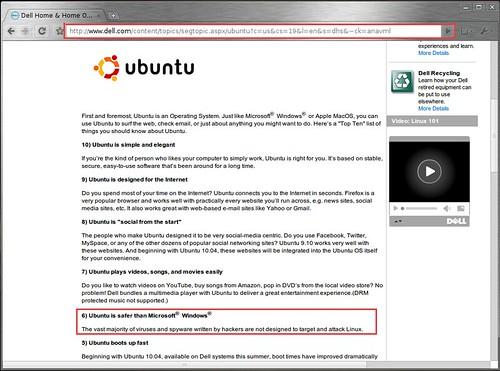 A Dell szerint az Ubuntu biztonságosabb a Windows-nál