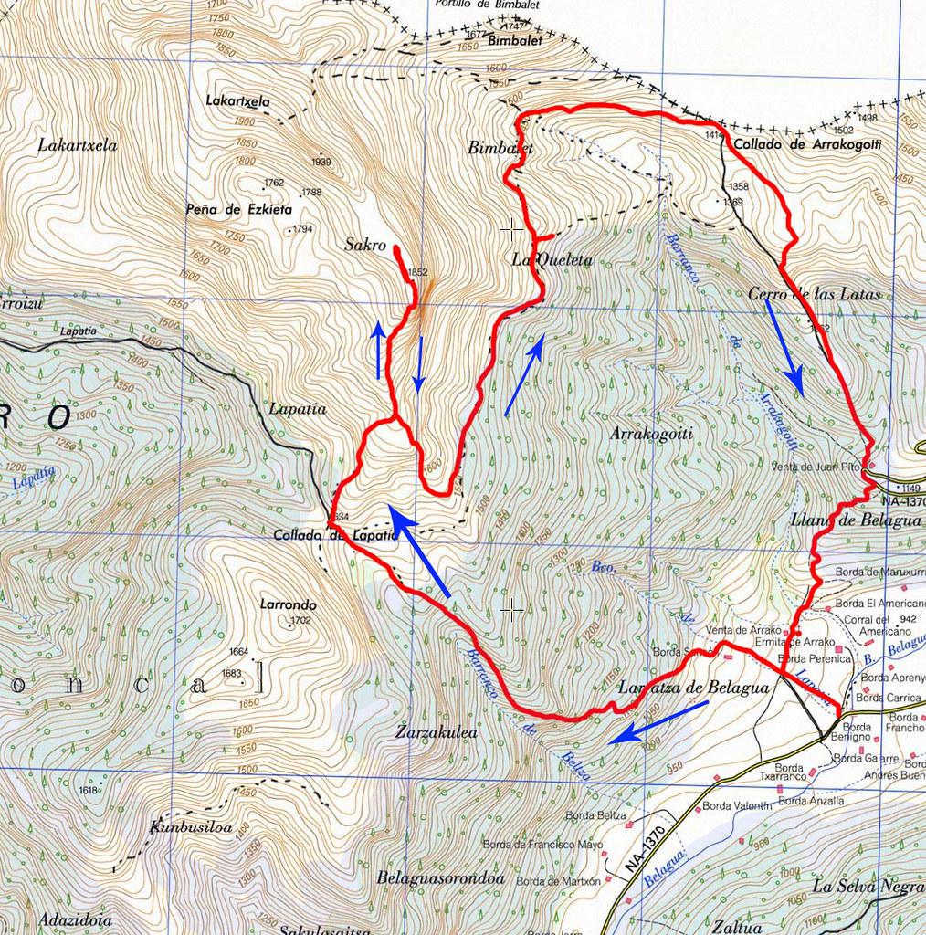 Mapa Lakeleta