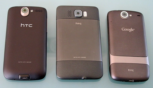 HTC Desire, HTC HD2, Google Nexus One