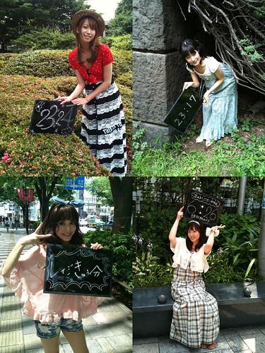 100611 – 四位女性聲優「小清水亞美、後藤沙緒里、たかはし智秋、阿澄佳奈」確定成為報時軟體《美聲時計2》的第四批陣容!