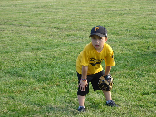 Mason's First T-ball game