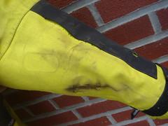 Aerostich Darien: lowside scars (ROSKO.CC) Tags: seth gear riding jacket armor motorcycle darien protection rosko waterproof liner hiviz aerostich sethrosko roskocc