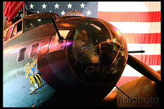 All American. (jplphoto) Tags: seattle usa america unitedstates americanflag b17 american museumofflight patriotism b17bomber boeingfield bfi canon2470f28 kbfi seattlemuseumofflight claylacy b17f canon7d n17w boeingbee jplphoto fieldclay jdlphoto jeremydwyerlindgren photojdl jeremydwyerlindgrenphotography