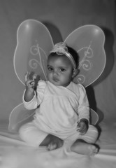 My baby fairy (rintintina) Tags: portrait baby cute girl beautiful face one nikon babies child princess little lips fairy kiddies