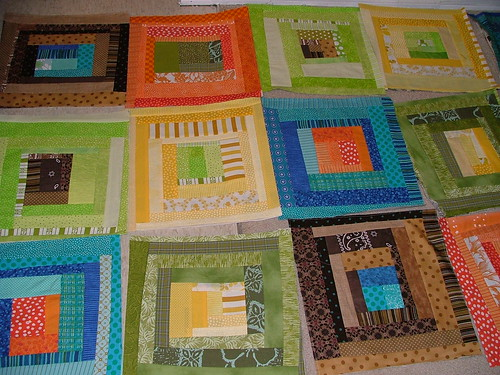 Bunk bed log cabin quilt
