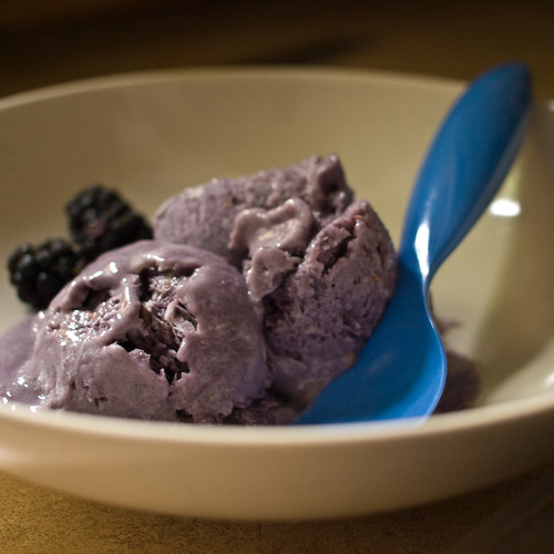 30 Days of Creativity - Day 18: Blackberry Gelato