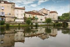 Brantôme (Capt' Gorgeous) Tags: reflection water abbey architecture river périgord église abbaye perigord brantome dronne riverdronne